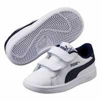 Puma Маратонки Smash Suede Fun Court Trainers Infant Boys White/Navy Бебешки обувки и маратонки