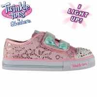 Skechers Маратонки За Малко Момиче Twinkle Toes Stepper Trainers Infant Girls Pink/Blue Бебешки обувки и маратонки