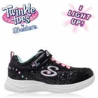 Skechers Маратонки За Момиче Glimmer Twinkle Toes Girls Trainers Black/Pink Детски маратонки