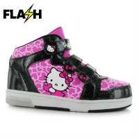 Character Светещи Кецове Момиченца Light Up Hi Tops Infant Girls Hello Kitty Бебешки обувки и маратонки