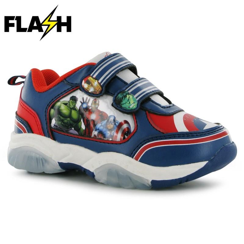 a96abd03dfe Character Детски Светещи Маратонки Light Up Infants Trainers Avengers  Бебешки обувки и маратонки