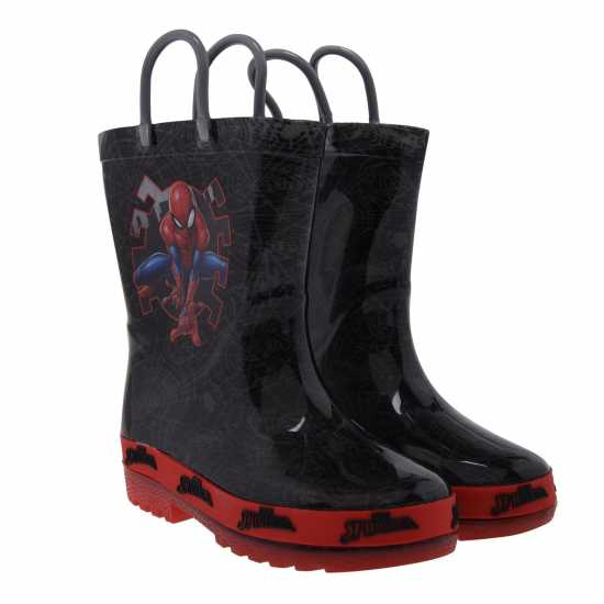 Character Light Up Wellingtons Unisex Infants Spiderman Бебешки обувки и маратонки