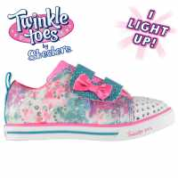 Skechers Маратонки За Малко Момиченце Twinkle Toes Rainbow Cutie Infant Girls Trainers Pink/Multi Детски маратонки