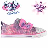 Skechers Маратонки За Малко Момиченце Twinkle Toes Rainbow Cutie Infant Girls Trainers Purple/Multi Детски маратонки