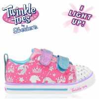 Skechers Платнени Обувки Lite Canvas Shoes Infant Girls Pink/Multi Детски маратонки
