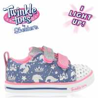 Skechers Платнени Обувки Lite Canvas Shoes Infant Girls Blue/Multi Детски маратонки