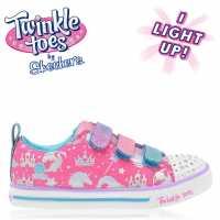 Skechers Маратонки За Момиче Toes Sparkle Lite Girls Trainers Pink/Multi Детски маратонки