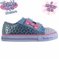 Skechers Детски Маратонки Twinkle Toes Shuffles Starlight Infants Trainers Light Blue/Pink Бебешки обувки и маратонки