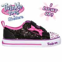 Skechers Twinkle Toes Itsy Bitsy Shoes Infant Girls Black/Pink Детски маратонки