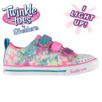 Skechers Маратонки За Момиче Twinkle Toes Rainbow Cutie Child Girls Trainers Pink/Multi Детски маратонки