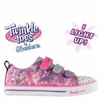 Skechers Маратонки За Момиче Twinkle Toes Rainbow Cutie Child Girls Trainers Purple/Multi Детски маратонки