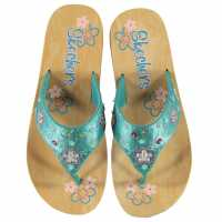 Skechers Sparks Flip Flops Child Girls Turquoise Детски сандали и джапанки