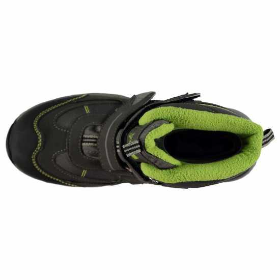 Karrimor Детски Туристически Обувки Mount Waterproof Childrens Walking Boots Charcoal/Green Детски апрески
