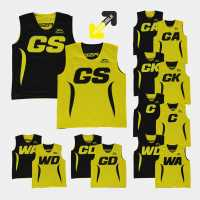 Slazenger Reversiblbib Yellow/Black Нетбол