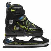 Fila X One Ice Skates Juniors Black/Yellow Кънки за лед