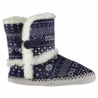 Soulcal Coso Booties Ladies Navy/ Fairisle Чехли