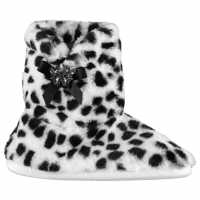 Miso Fifi Booties Ladies Snow Leopard