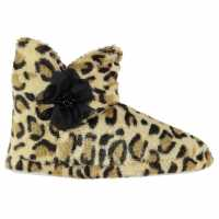 Rock And Rags Leopard Slipper Boots Leopard Чехли