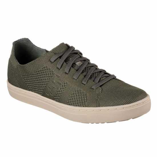 Skechers Alevn Monaco Shoes Mens Olive Мъжки маратонки