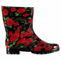 Rock And Rags Дамски Гумени Ботуши Flower Wellies Ladies Black Multi Дамски гумени ботуши