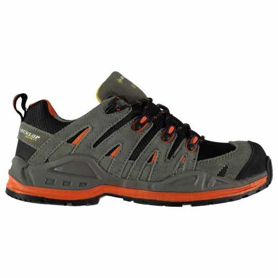 Dunlop Мъжки Работни Обувки Montana Safety Boots Mens Charcoal/Orange Мъжки боти и ботуши