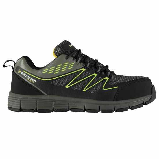 Dunlop Мъжки Работни Обувки Jersey Safety Boots Mens Charcoal/Green Мъжки боти и ботуши