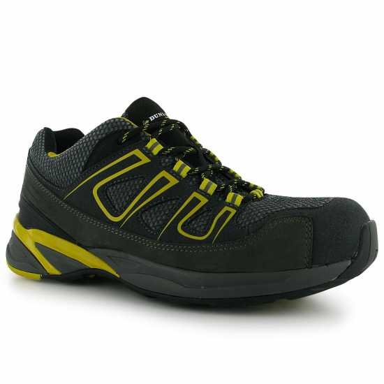 Dunlop Мъжки Работни Обувки Oregon Mens Safety Boots Charcoal/Yellow Мъжки боти и ботуши