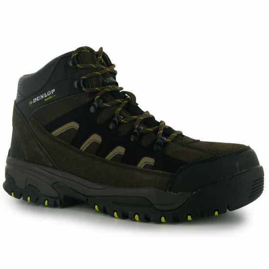 Dunlop Safety Hiker Boots Mens Brown Мъжки боти и ботуши