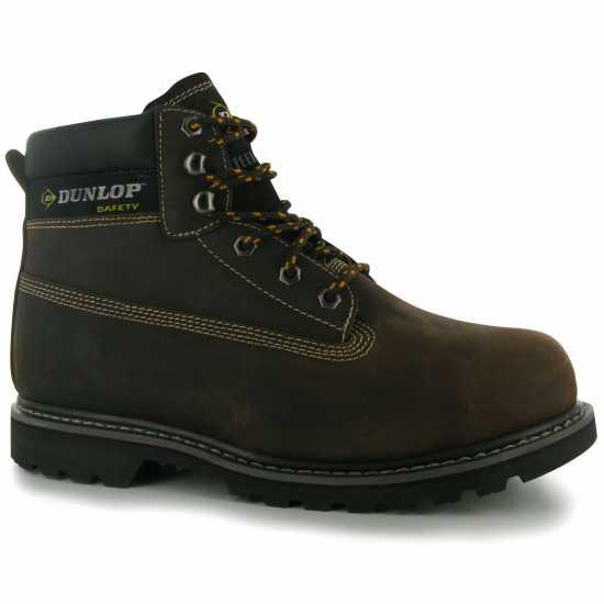 Dunlop Мъжки Работни Обувки Nevada Mens Safety Boots Brown Мъжки боти и ботуши