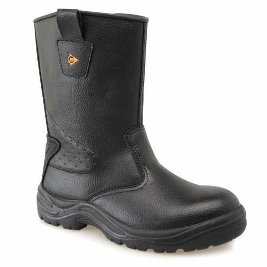 Dunlop Мъжки Работни Обувки Safety Rigger Safety Boots Mens Black Мъжки боти и ботуши