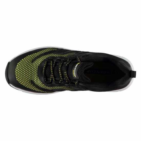 Dunlop Мъжки Работни Обувки Maine Mens Safety Shoes Black/Fluro Мъжки боти и ботуши