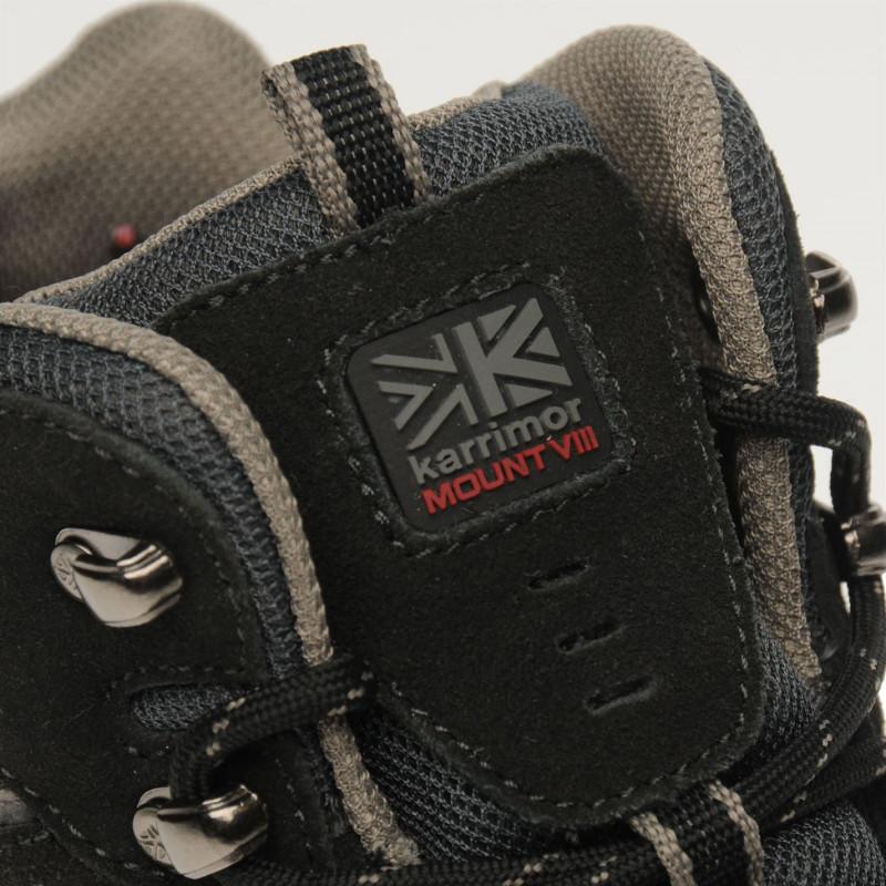 d699f7bb1d4 Karrimor Средни Мъжки Туристически Обувки Mount Mid Mens Walking Boots  Black Мъжки туристически обувки