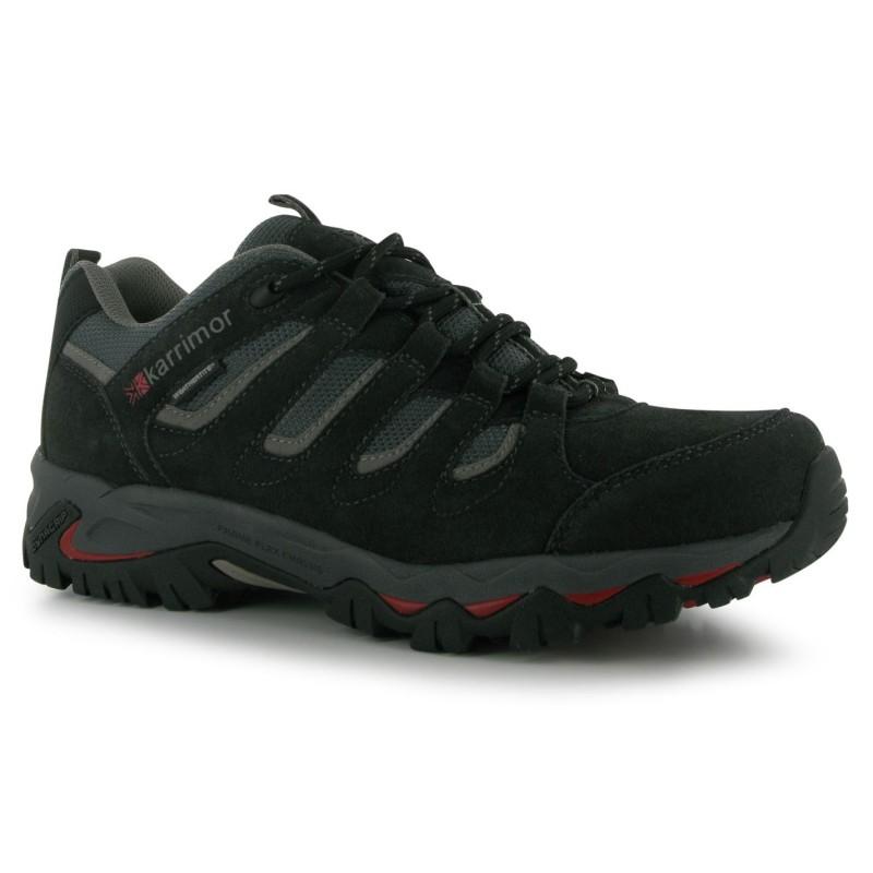 15e261a1b60 Karrimor Ниски Мъжки Туристически Обувки Mount Low Mens Walking Shoes Black Мъжки  туристически обувки
