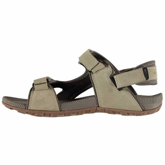 Karrimor Мъжки Кожени Туристически Сандали Antibes Leather Mens Walking Sandals Beige Мъжки сандали и джапанки