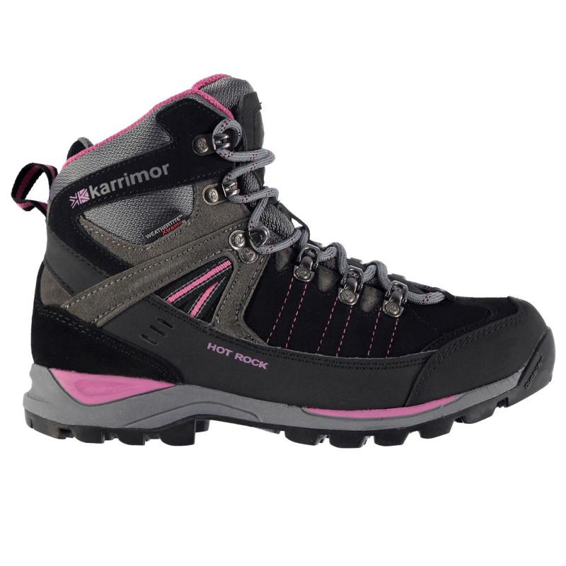 7c2e94ae8b4 Karrimor Дамски Туристически Обувки Hot Rock Ladies Walking Boots  Black/Pink Дамски туристически обувки