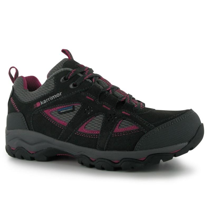 fa614897d3c Karrimor Ниски Дамски Ежедневни Обувки Mount Low Ladies Walking Shoes  Black/Pink Дамски туристически обувки