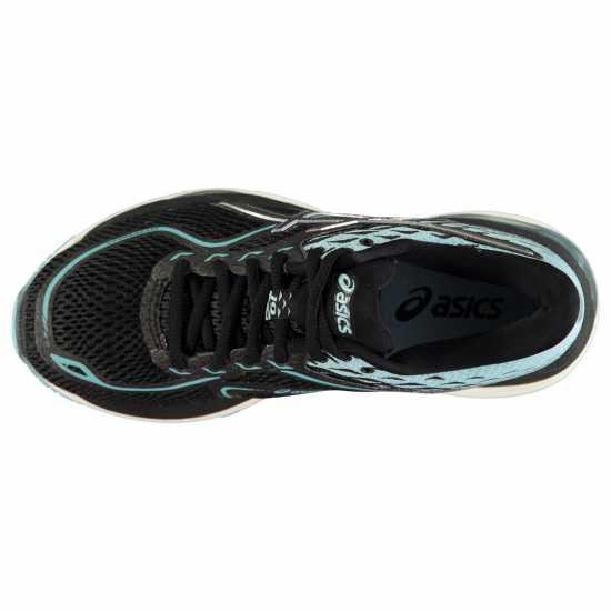 Asics Дамски Маратонки За Бягане Cumulus 19 Ladies Running Shoes Black/Blue/Wht Дамски маратонки