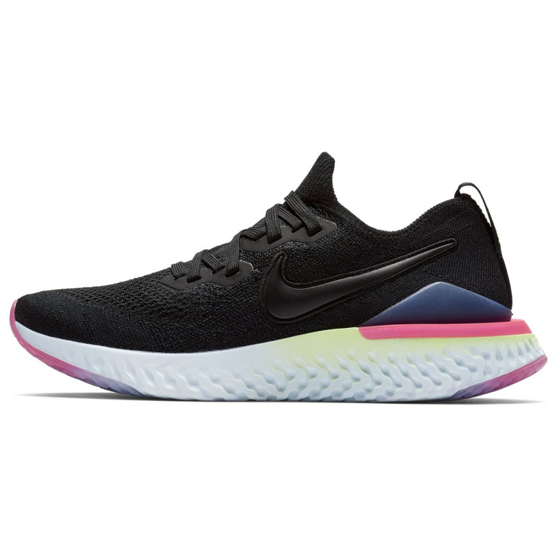 3556ec31d82 Nike Дамски Маратонки За Бягане Epic React Flyknit 2 Ladies Running  Trainers Black/Lime Дамски