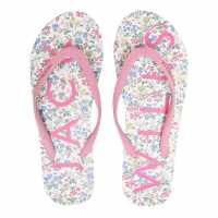 Джапанки Jack Wills Elland Flip Flops White Floral Дамски обувки