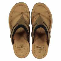 Soulcal Мъжки Джапанки Lounge Mens Flip Flops Brown Мъжки сандали и джапанки