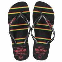 Soulcal Мъжки Джапанки Maui Flip Flops Mens Rasta Мъжки сандали и джапанки
