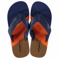 Oneill Мъжки Джапанки Imprint Pattern Flip Flops Mens Tobacco Brown Мъжки сандали и джапанки