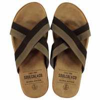 Soulcal Мъжки Джапанки Covina Mens Flip Flops Brown Мъжки сандали и джапанки