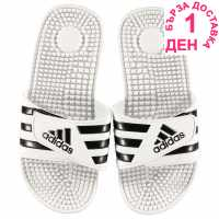 Adidas Мъжки Джапанки Adissage Mens Slider Sandals White/Grey Мъжки сандали и джапанки