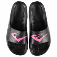 Everlast Дамски Чехли Ladies Sliders Black/Pink Дамски сандали и джапанки