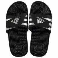 Adidas Дамски Чехли Adissage Ladies Sliders Black/Silver Дамски сандали и джапанки