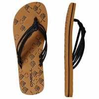 Oneill Дамски Джапанки Ditsy Flip Flops Ladies Black Дамски сандали и джапанки