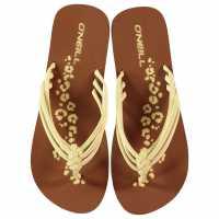 Oneill Дамски Джапанки Ditsy Flip Flops Ladies Vanilla Дамски сандали и джапанки