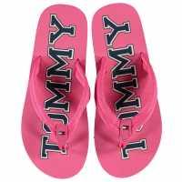 Tommy Hilfiger Джапанки Varsity Flip Flops Fuchsia Детски сандали и джапанки