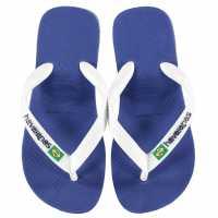 Havaianas Дамски Джапанки Brasil Logo Flip Flops Marine Blue Детски сандали и джапанки